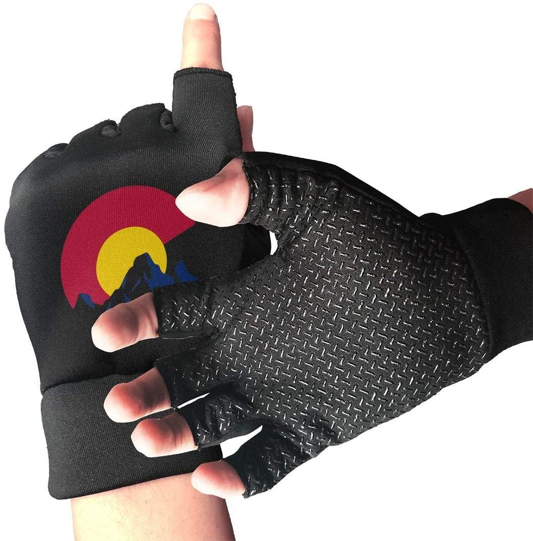 Game Life Colorado Flag Mountain Anti-Skid Gloves Half Finger Short Gloves Outdoor Sports Riding Gloves