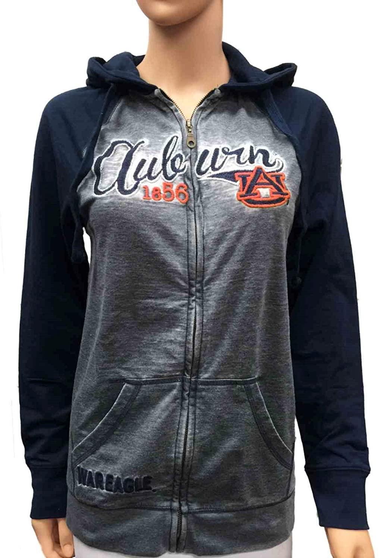 Glitter Gear Auburn Tigers Women Lightweight Full-Zip Soft Fleece Jacket