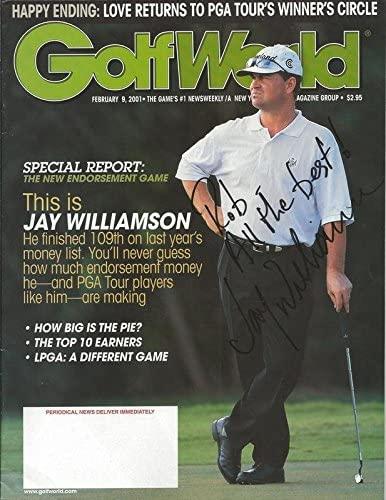 Jay Williamson Signed 2001 Golf World Full Magazine - Autographed MLB Magazines