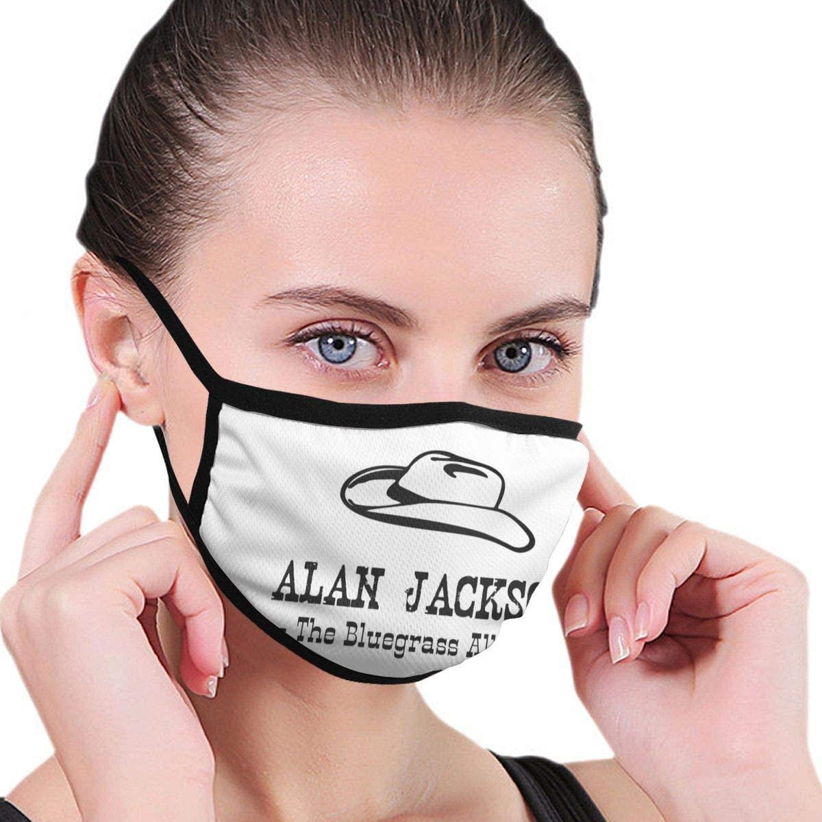 Qwtykeertyi Alan Jackson Fashion Protective Reusable Unisex Black Cotton Washable Balaclava