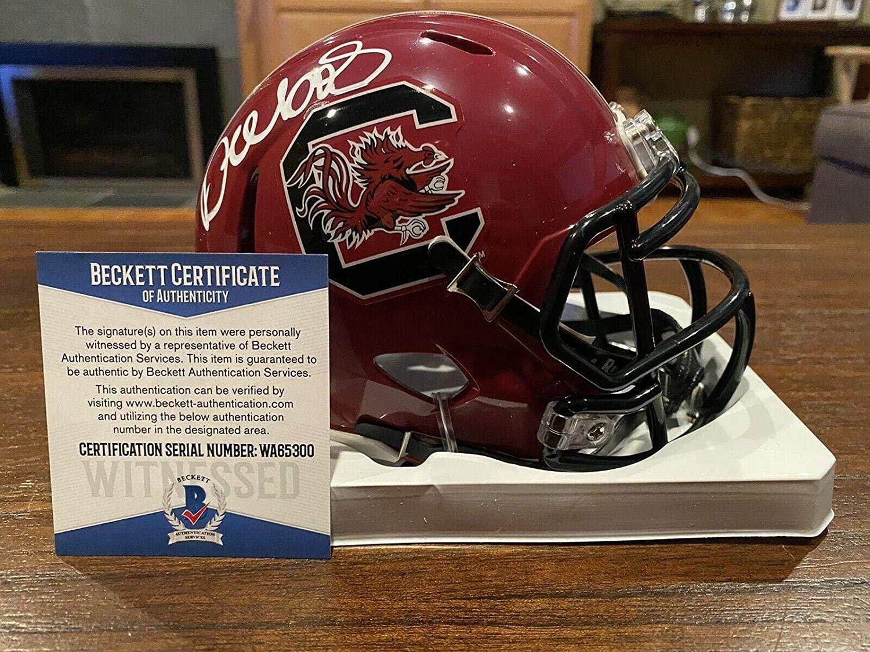 Deebo Samuel Autographed South Carolina Gamecocks Maroon Mini Helmet Beckett - Beckett Authentication