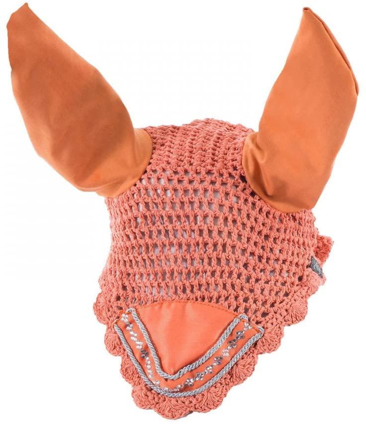 Horze Melrose Ear Net, Pink, Pony