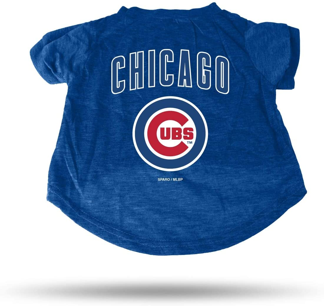 Rico Industries MLB Chicago Cubs Pet Tee ShirtPet Tee Shirt Size M, Team Colors, Size M