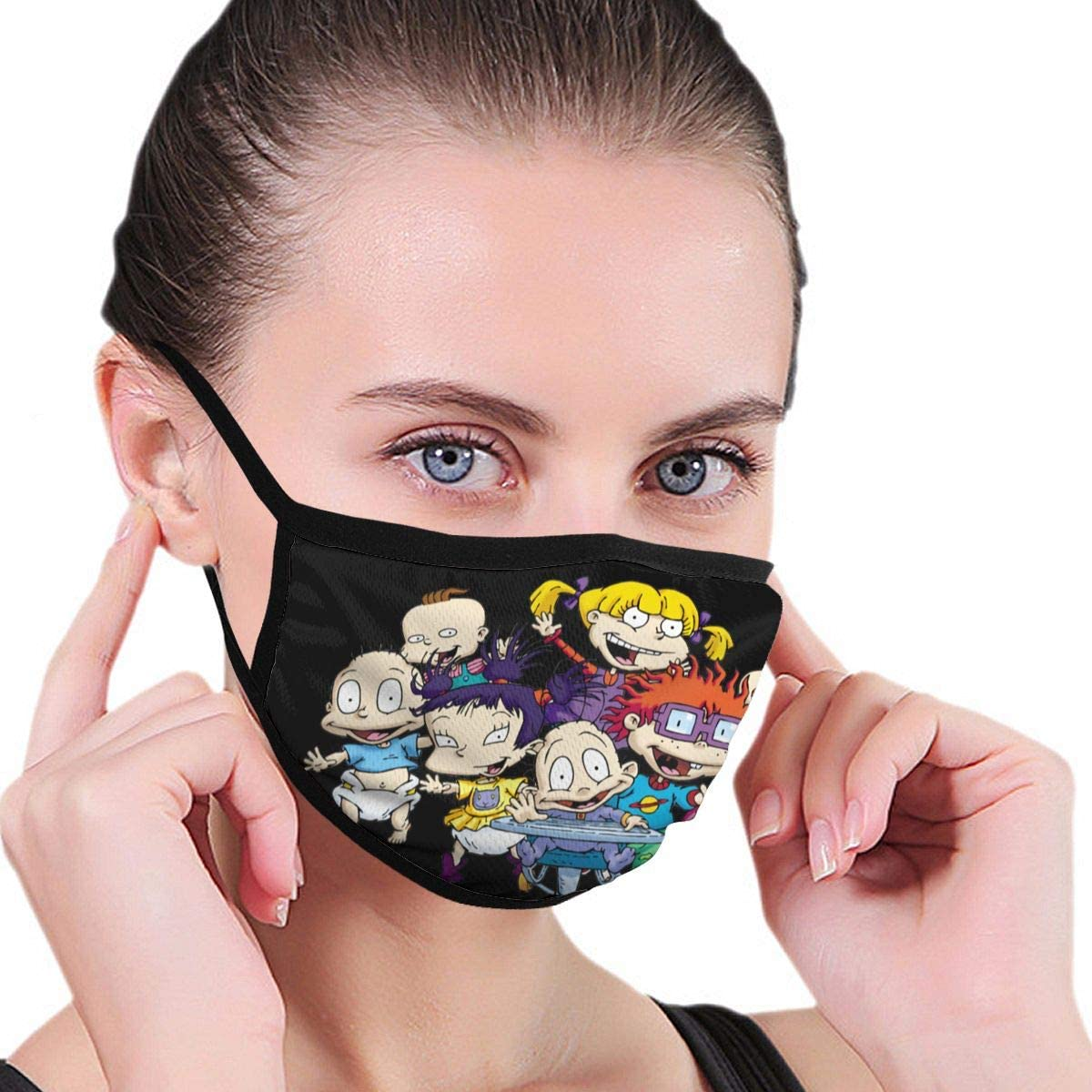 Wehoiweh Rugrats Dust Prevention Face Cover Mouth Cover Bandana Cool Lightweight