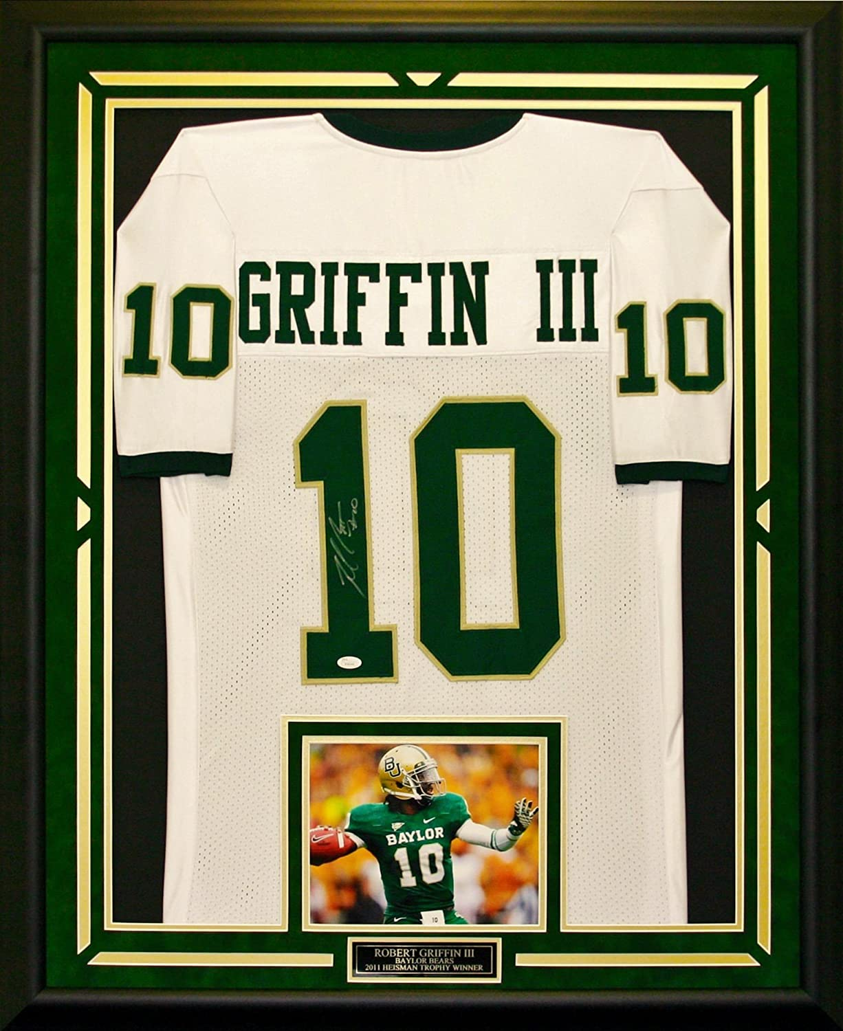 Robert Griffin III Autographed & Framed Baylor Jersey