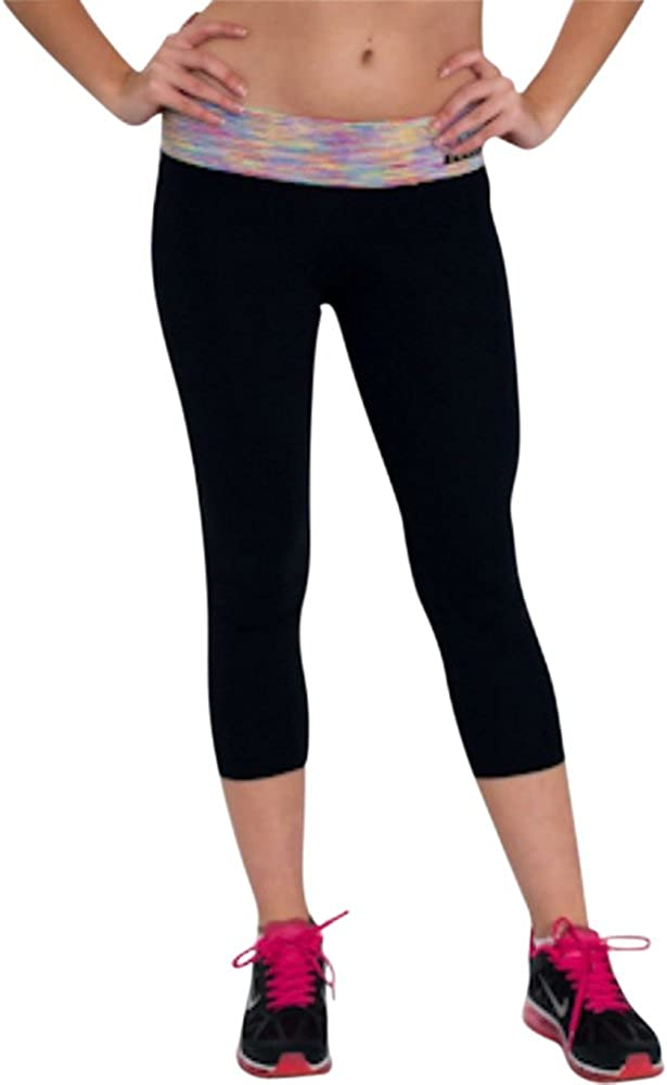 Sara Crave Running/Yoga Women's Black Tights Supportive Supplex Fabric Gym Clothes