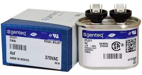 97F5704-4 uf MFD 370 Volt VAC - Genteq Oval Run Capacitor Upgrade
