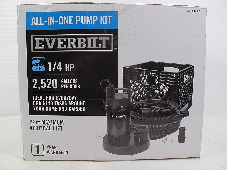 Everbilt SBA025RP Submersible Utility Pump Kit 1/4 HP