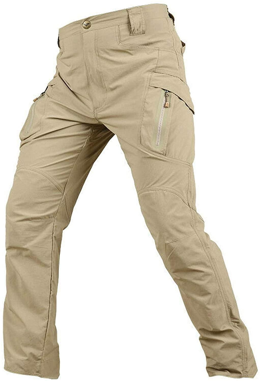 YEVHEV Hiking Pants for Men Quick Drying IX9 Tactical Waterproof Elastic Uniform