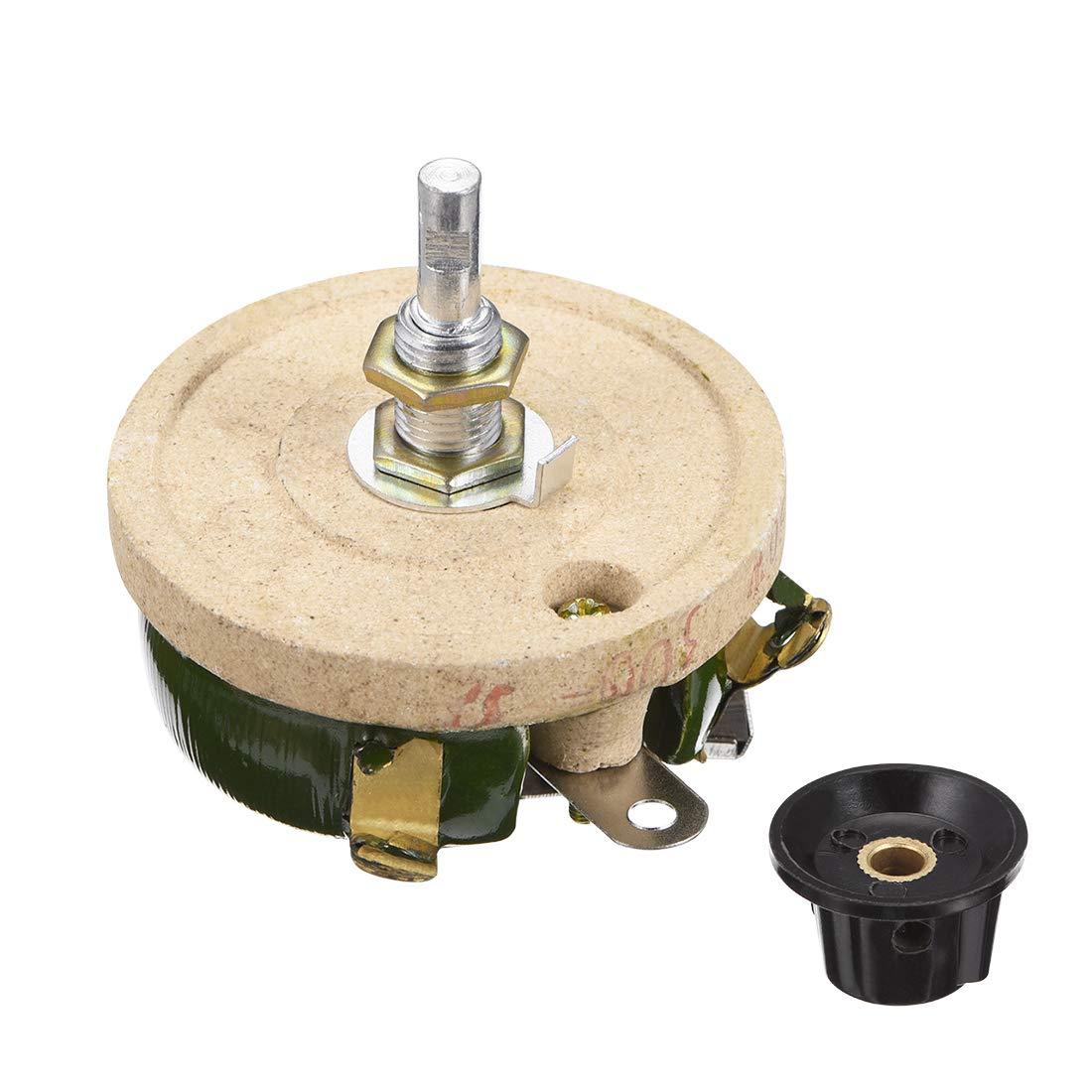 uxcell 50W 300R Ohm Wirewound Ceramic Potentiometer Variable Rheostat Resistor with Knob
