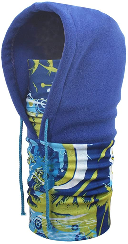 Globalwells Balaclava Winter Neck Warmers Helmet Windproof Sports Face Cover Cap Fleece Hood Ski Mask Equipment(Color Option) E