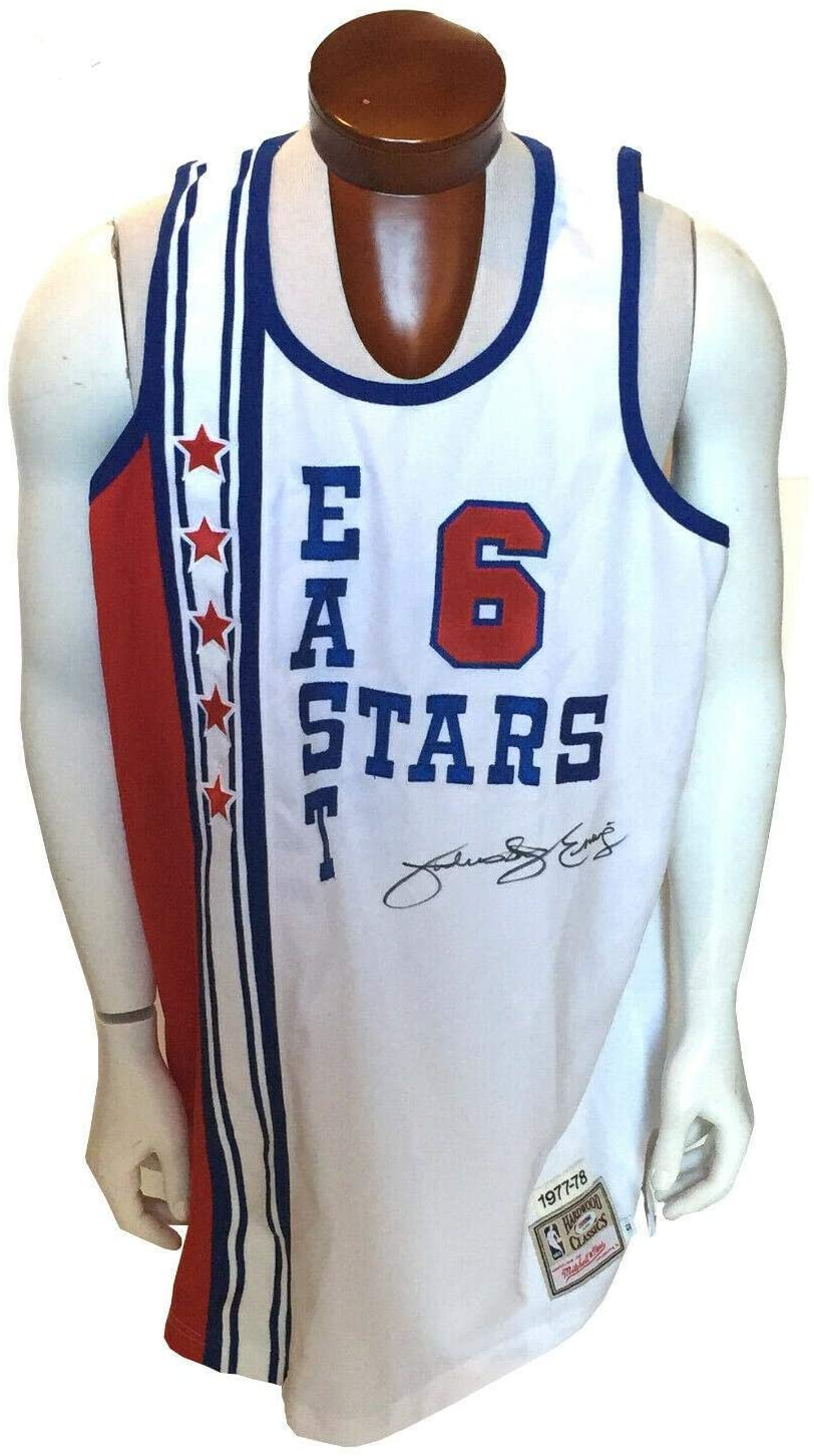 Signed Julius Erving Jersey - Dr J 1977 78 MN East All Star COA - PSA/DNA Certified - Autographed NBA Jerseys