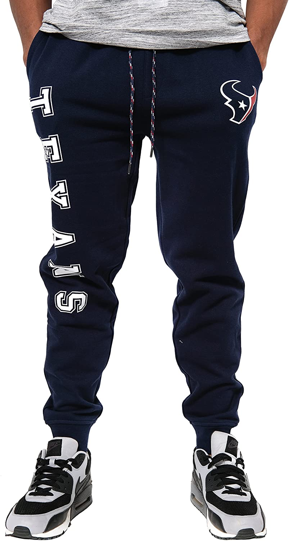 Ultra Game NFL Houston Texans Mens Jogger Pants Active Basic Fleece Sweatpants, Team Color, Small