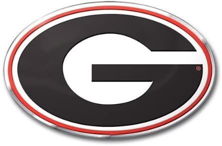 FANMATS University of Georgia Heavy Duty Aluminum Color Emblem