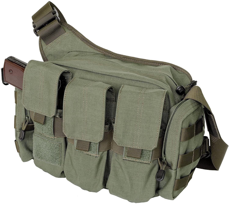 A2TACTICAL Tactical Bail Out Shoulder Bag, Green, Cordura