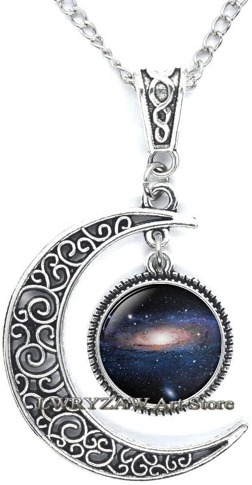 Galaxy Pendant, Space Pendant, Space Jewelry, Glass Art Pendant, Galaxy Necklace, Space Necklace, Picture Pendant, Astronomy Jewelry,M288