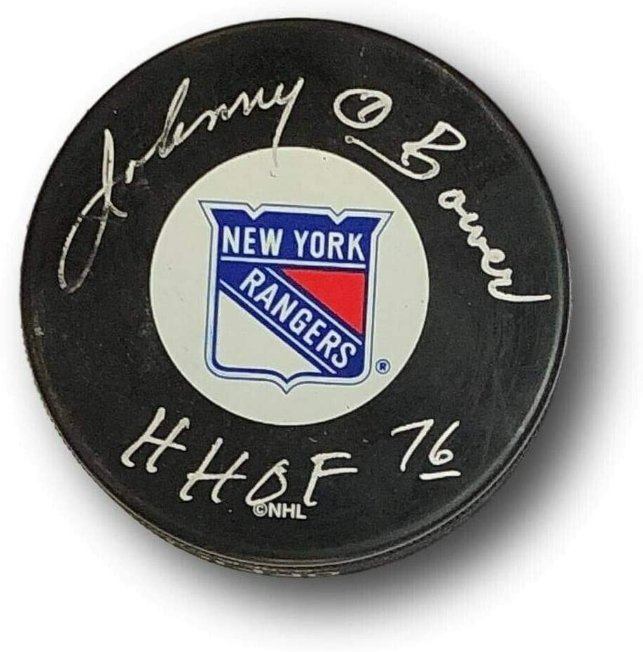 Johnny Bower Autographed Signed Hockey Puck Autograph HOF Ny Rangers PSA/DNA B33