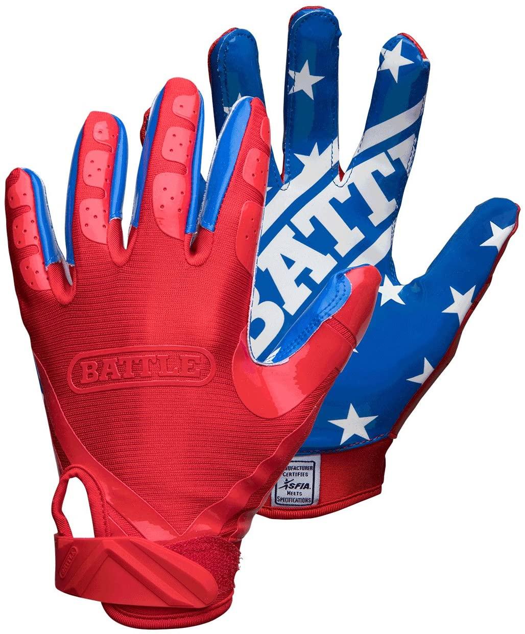 Battle All American Adult Football Gloves, Medium