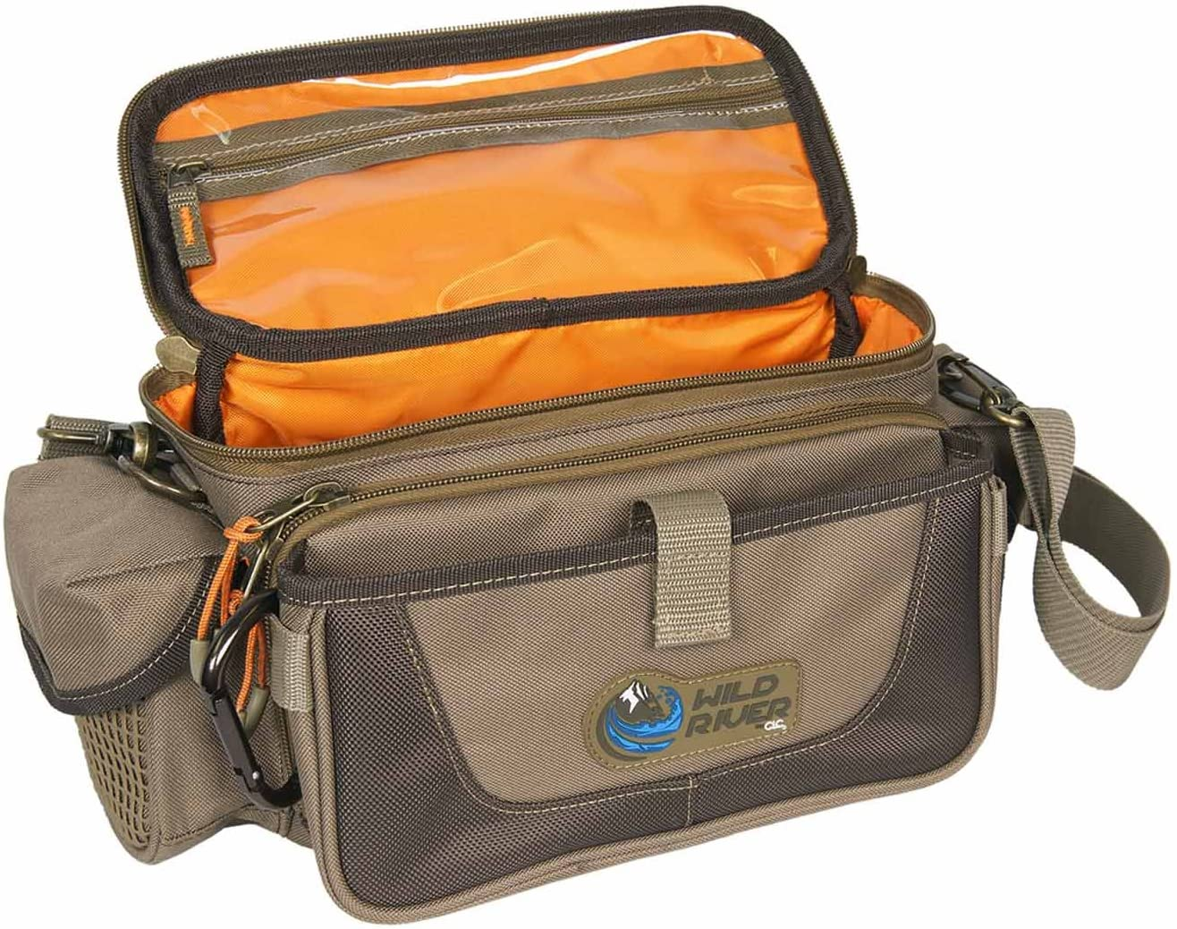 Wild River by CLC Custom Leathercraft WN3505 Tackle Tek Mission Lighted Convertible Tackle Bag, Small, (Trays Not Included)