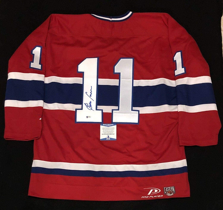 Claude Larose Autographed Jersey - Pro Player NWOT Large Beckett COA - Beckett Authentication - Autographed NHL Jerseys