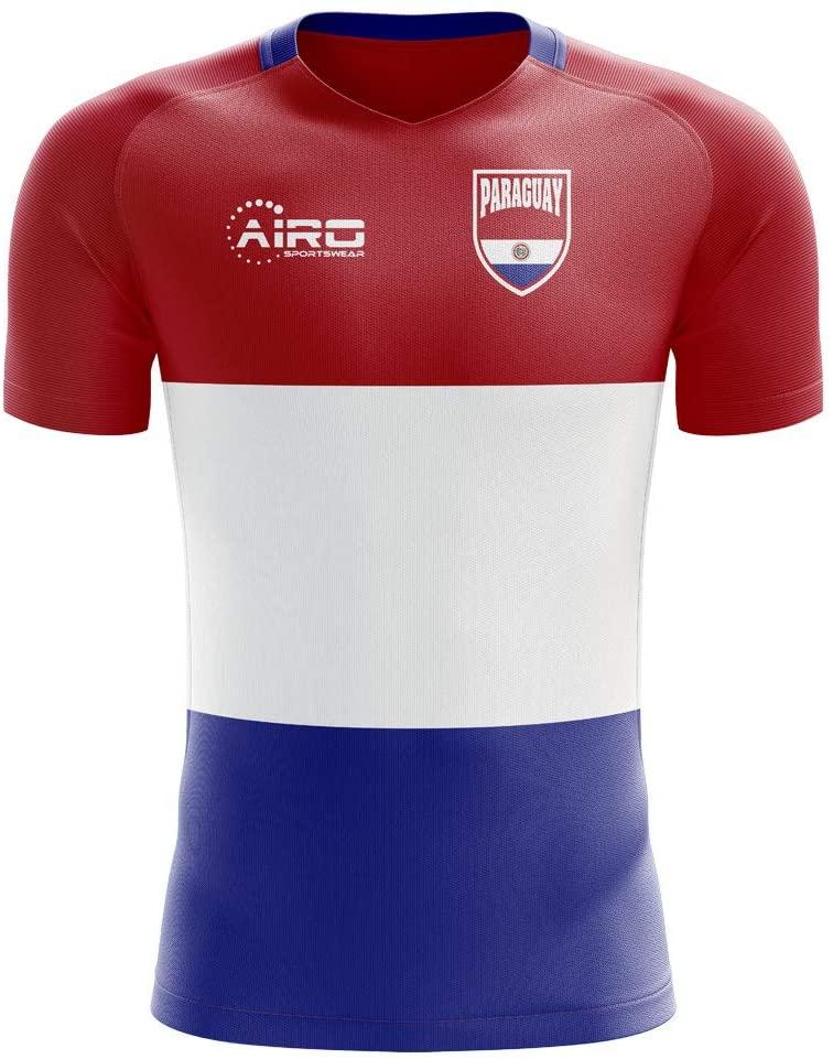 Airosportswear 2018-2019 Paraguay Home Concept Football Soccer T-Shirt Jersey - Kids
