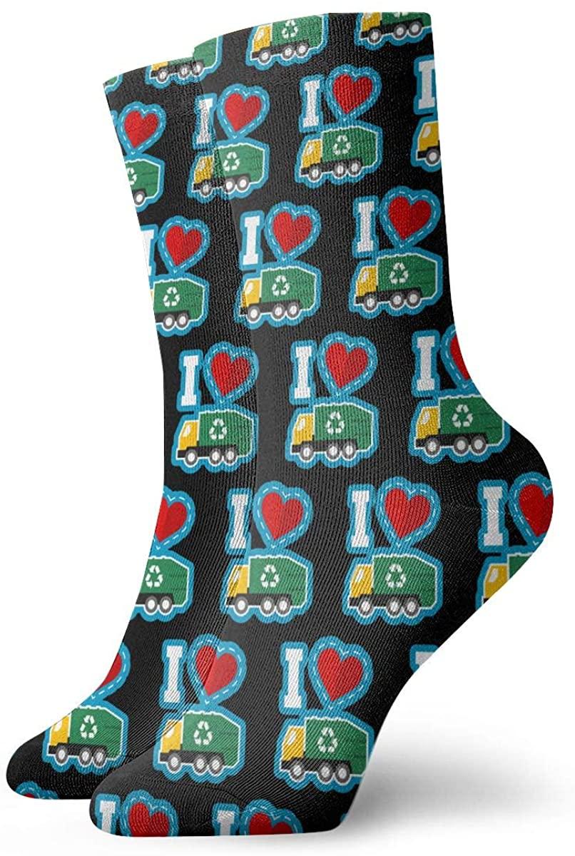 I Love Garbage Day. Short Crew Socks Athletic Tube Socks For Men Women