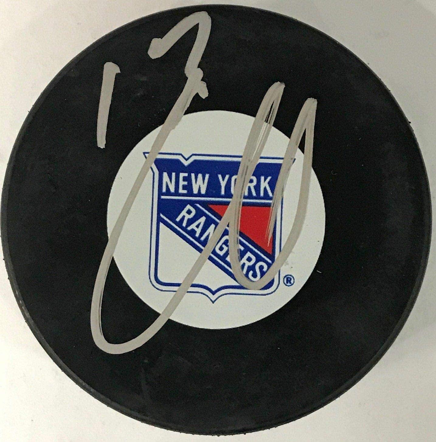 Nikolai Zherdev Autographed Hockey Puck - Autographed NHL Pucks