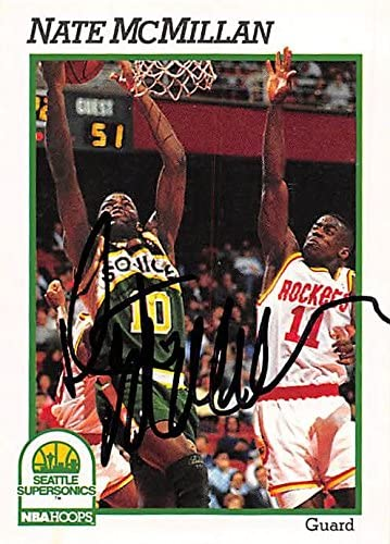 Nate McMillan autographed Basketball Card (Seattle Sonics) 1991 Hoops #441 - Unsigned Basketball Cards