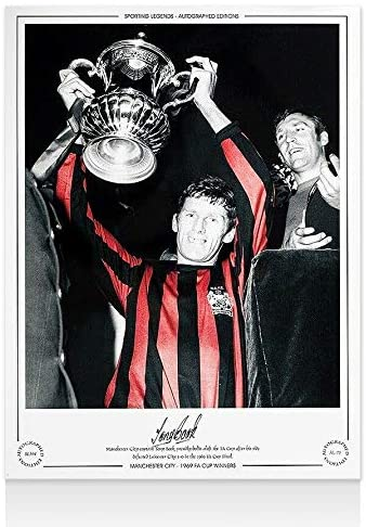 Tony Book Signed Manchester City Photo - 1969 FA Cup Winners Autograph - Autographed Soccer Magazines