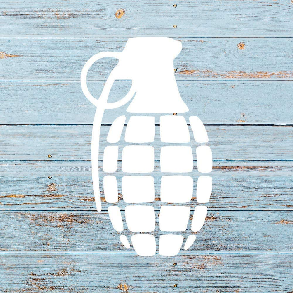 None Brand Hand Grenade Vinyl Sticker Graphic Bumper Tumbler Decal for Vehicles Car Truck Windows Laptop MacBook Phone Wall Door