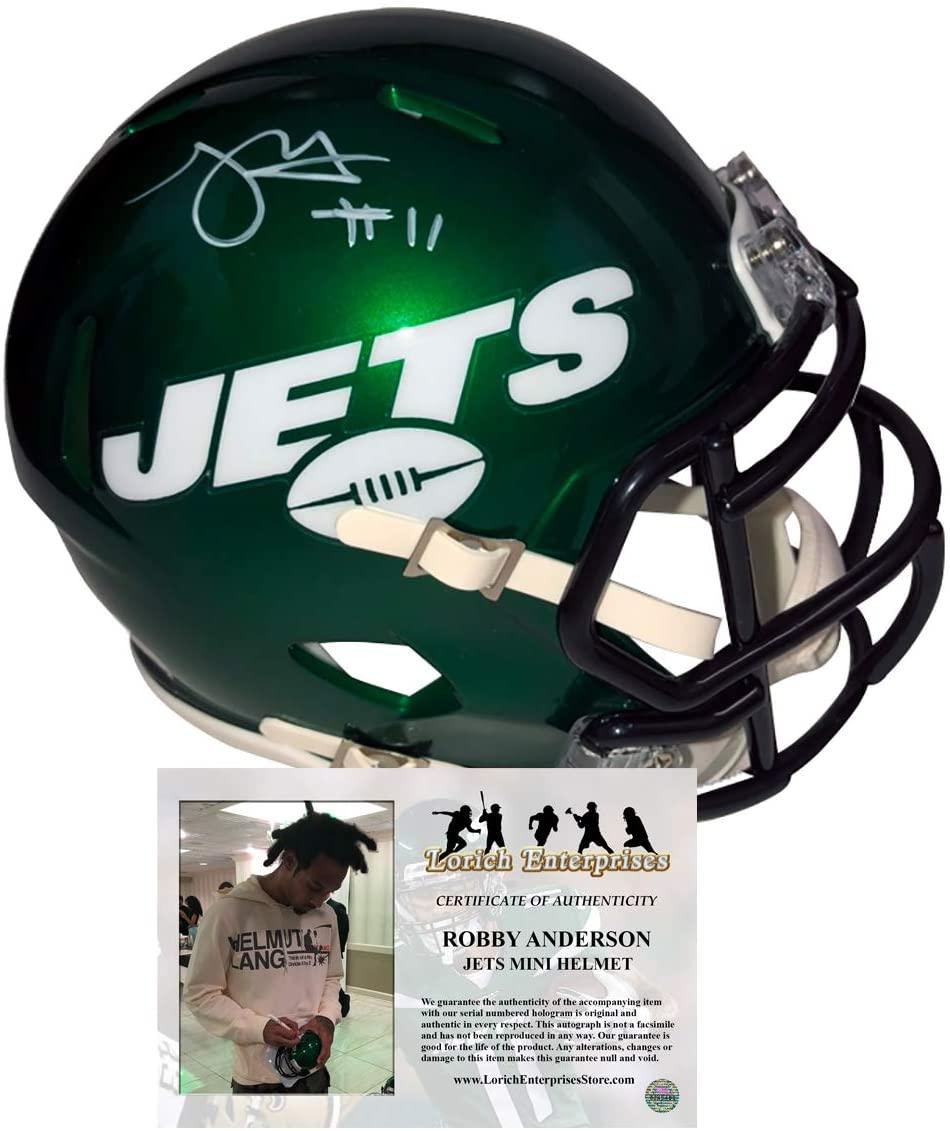 Robby Anderson Autographed 2019 New York Jets Speed Mini Helmet
