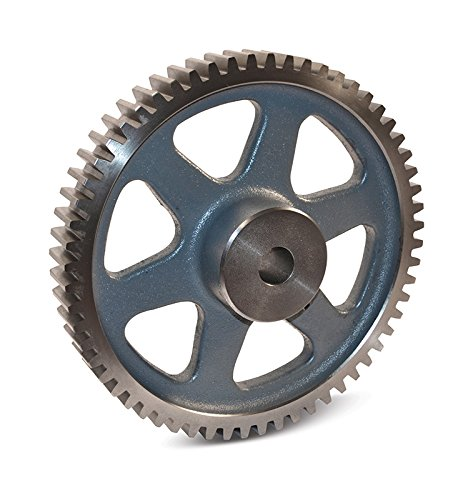 Boston Gear NK100B Spur Gear, 14.5 Pressure Angle, Cast Iron, Inch, 5 Pitch, 1.313