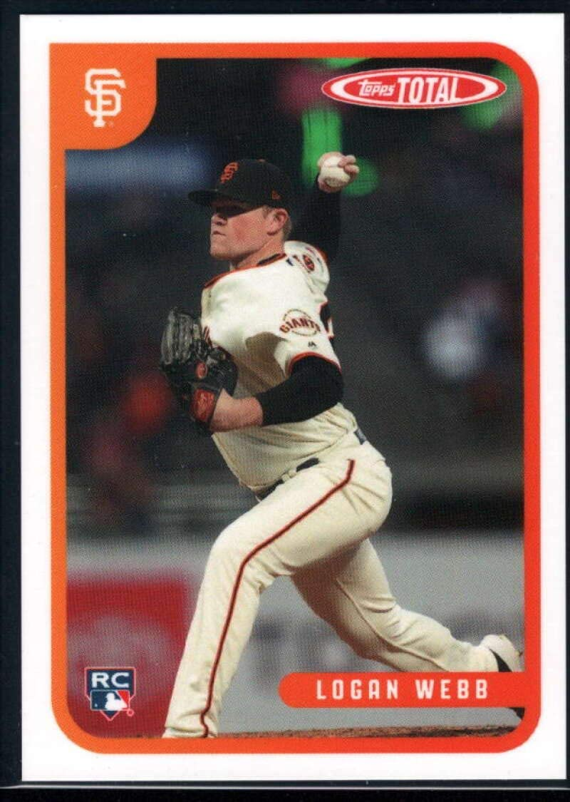 2020 Topps Total (Wave 2) Baseball #160 Logan Webb San Francisco Giants RC Rookie Official MLB Trading Card ONLINE EXCLUSIVE LIMITED PRINT RUN