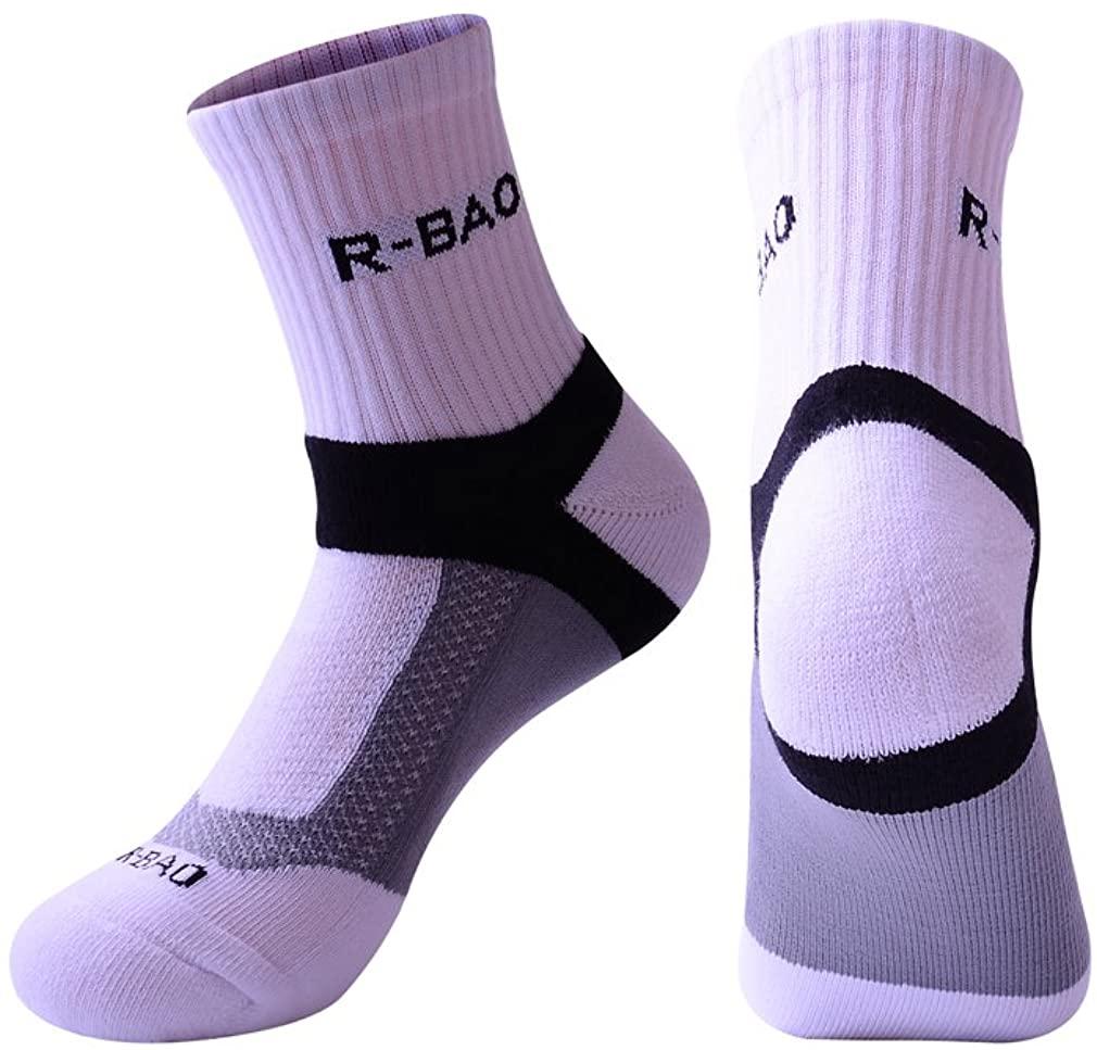 Rong-Bao Mens Multi Sports Moisture-wicking Basketball Cotton Short Ankle Socks