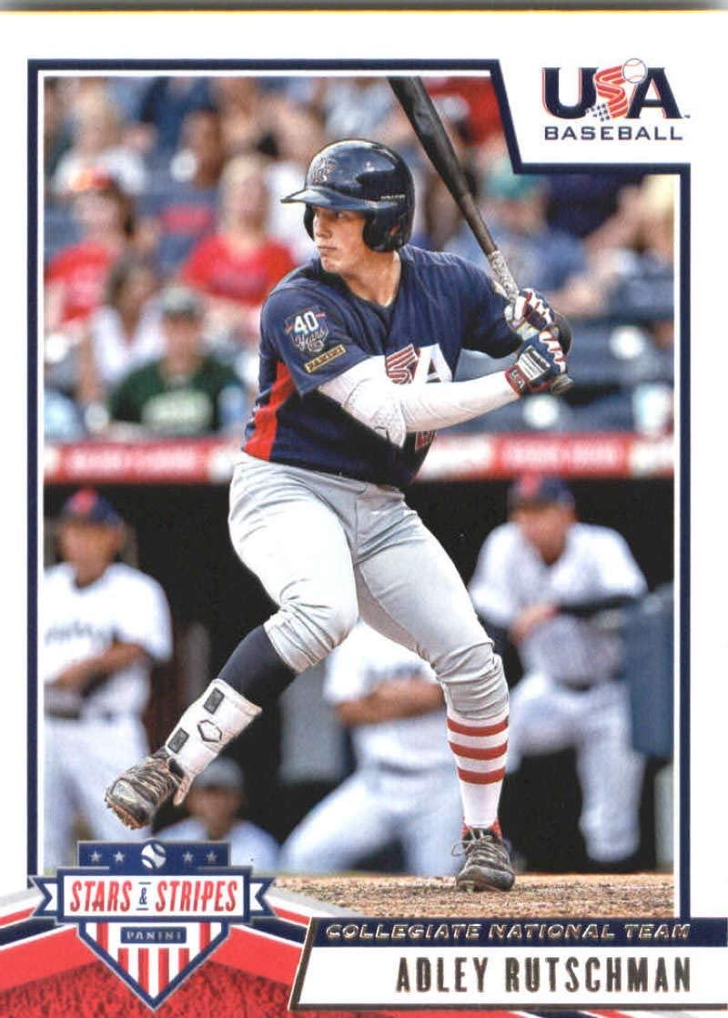 2019 Panini Stars and Stripes #9 Adley Rutschman USA Baseball Collegiate National Team Baseball Card