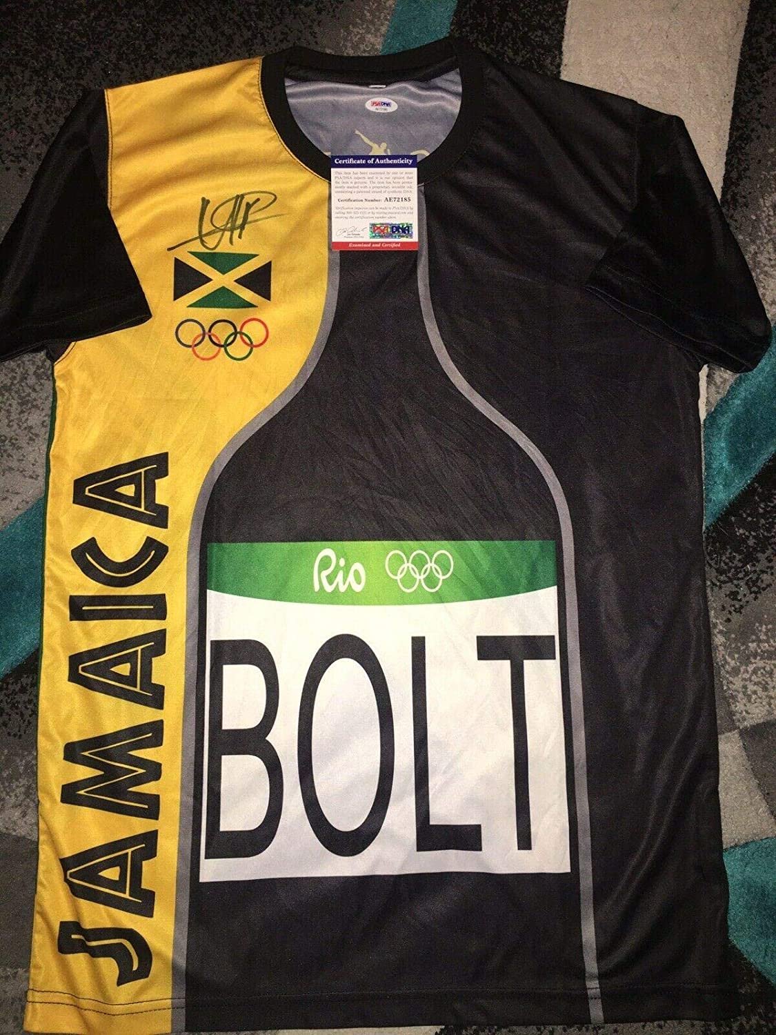 Usain Bolt Signed Rio Olympics Jersey Gold Medal 9x Gold Greatness - PSA/DNA Certified - Autographed Olympic Jerseys