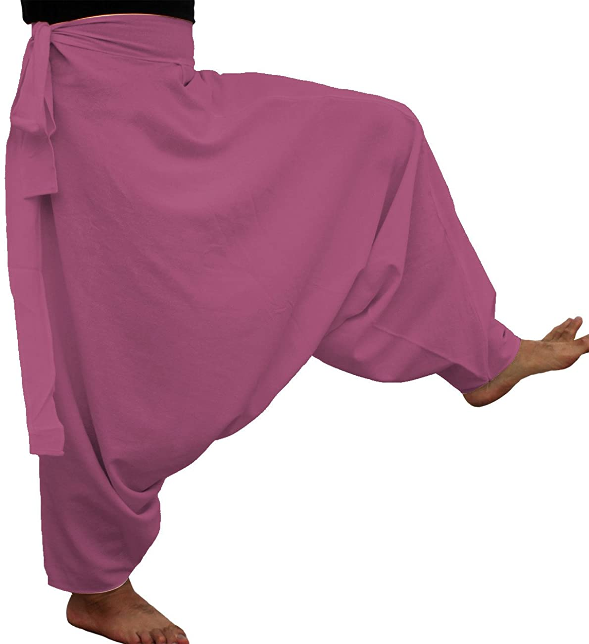RaanPahMuang Brand Thick Muang Cotton Side Tie Aladdin Baggy Mao Pants Plus Size