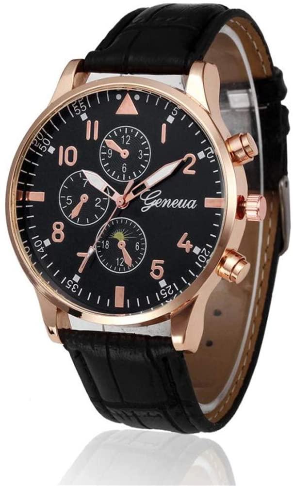 SheShiLs Retro Design Leather B Analog Alloy Quartz Wrist Watch Mens Luxury Digital Relogio Business Clock