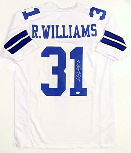 Roy Williams (Safety) Autographed Jersey - White Pro Style Witnessed Auth *Silver - JSA Certified - Autographed NFL Jerseys