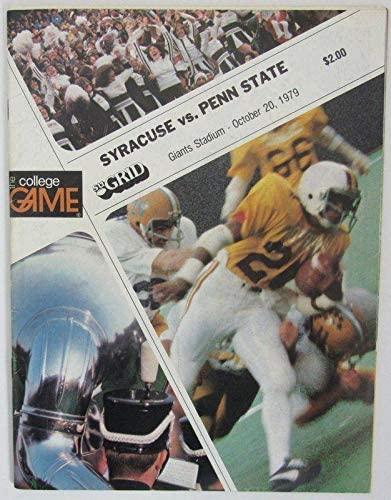 1979 Syracuse vs. Penn State Nittany Lions Football Program 138636 - College Programs