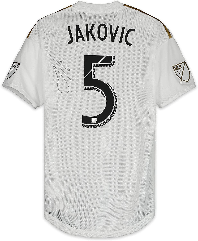 Dejan Jakovic LAFC Autographed Match-Used White #5 Jersey vs. Colorado Rapids on October 6, 2018 - Fanatics Authentic Certified