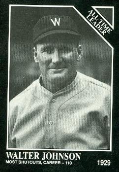 Walter Johnson Baseball Card (Washington Senators) 1991 Sporting News Conlon Collection #258
