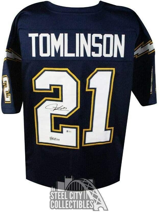 Autographed LaDainian Tomlinson Jersey - HOF 17 Custom BAS COA - Beckett Authentication - Autographed NFL Jerseys