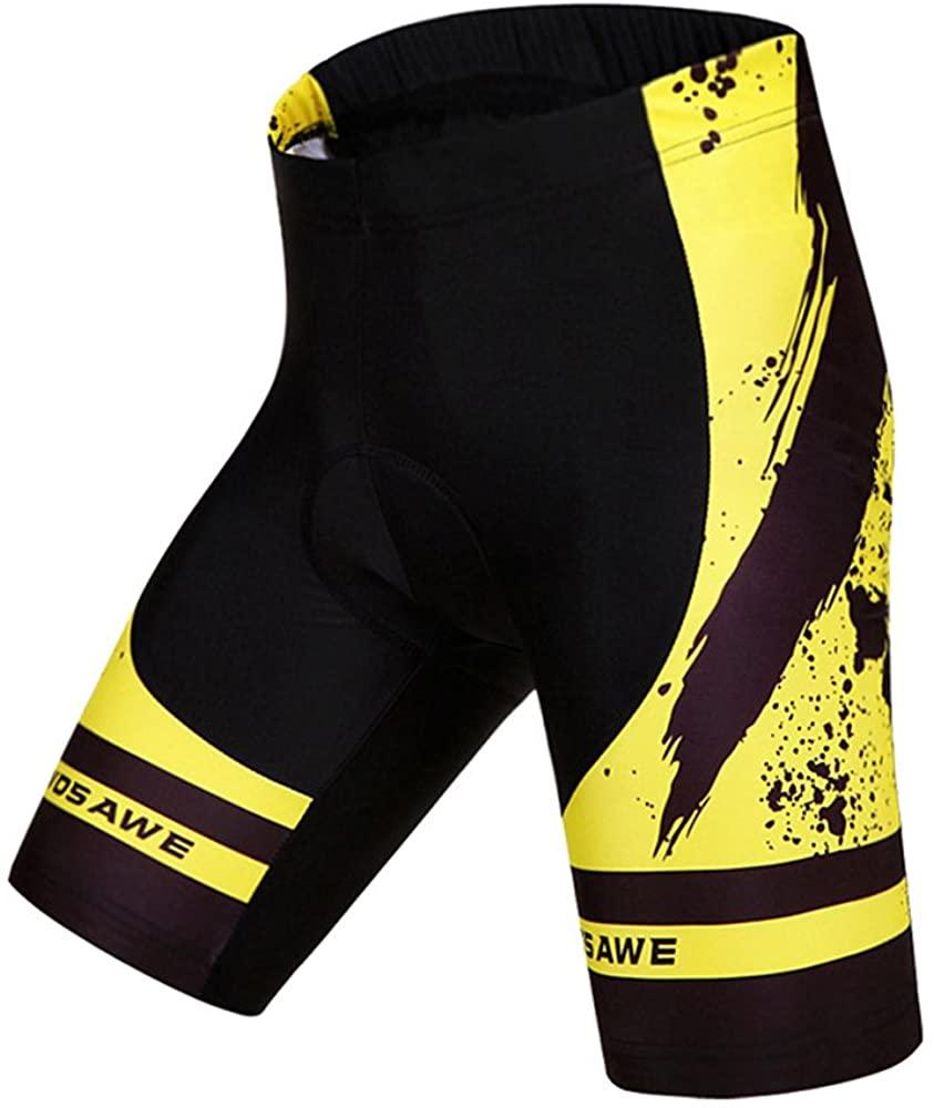 Wosawe Cycling Jerseys Men Bicycle Biking Shirts Bike Clothing Yellow