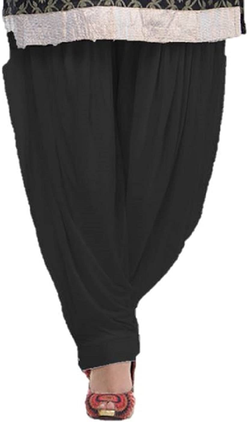 Reliable Patiala Salwar, Harem Pants, Yoga Pilates Pants 100% Cotton Free Style (Black)