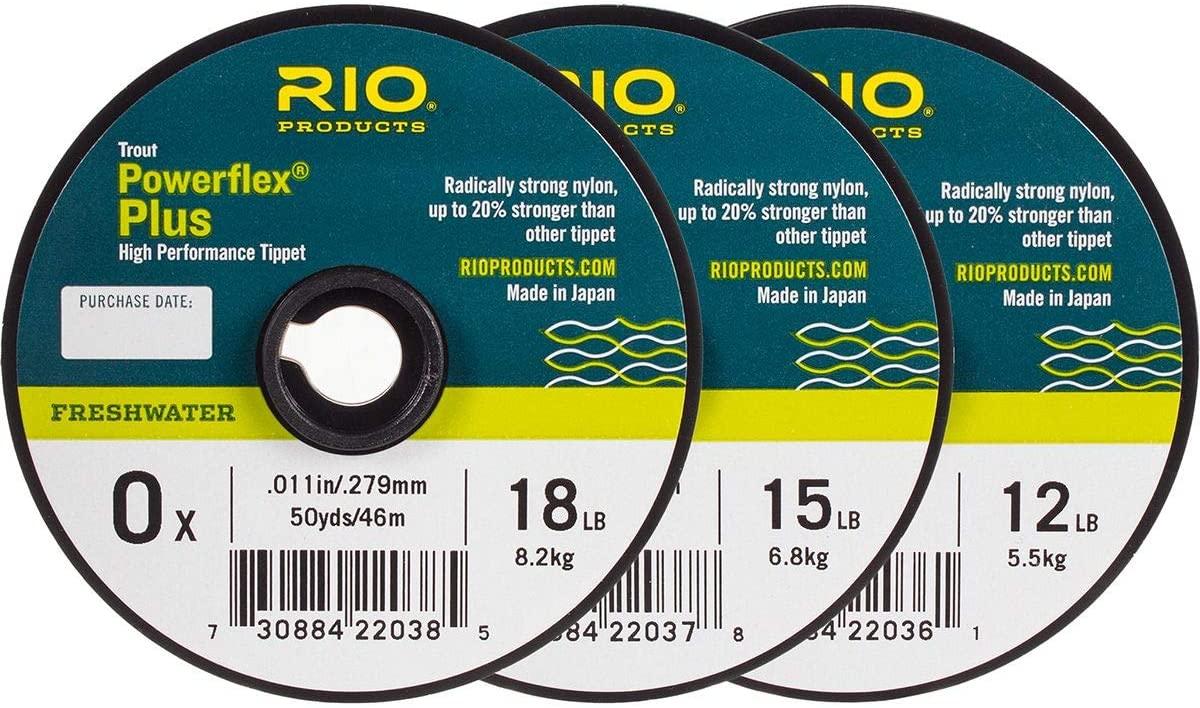 RIO Powerflex Plus Tippet 3-Pack One Color, 0x-2x