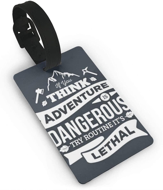 Field Rain Adventure Awaits Fashion Luggage Tag PVC Travel ID Suitcases Label For Bag