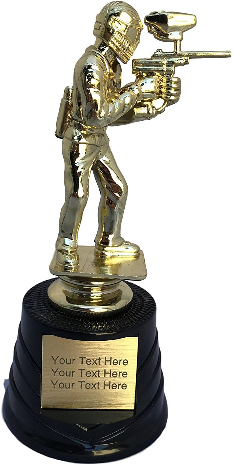 Trophy Crunch - Customized Paintball Trophies - Paintball - Stock Plate Engraving