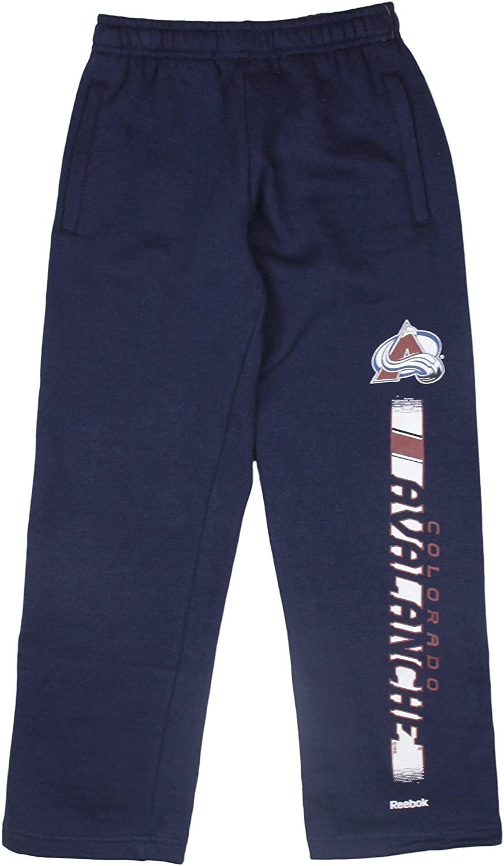 Reebok NHL Colorado Avalanche Boys Youth (8-20) Fleece Pants, Navy