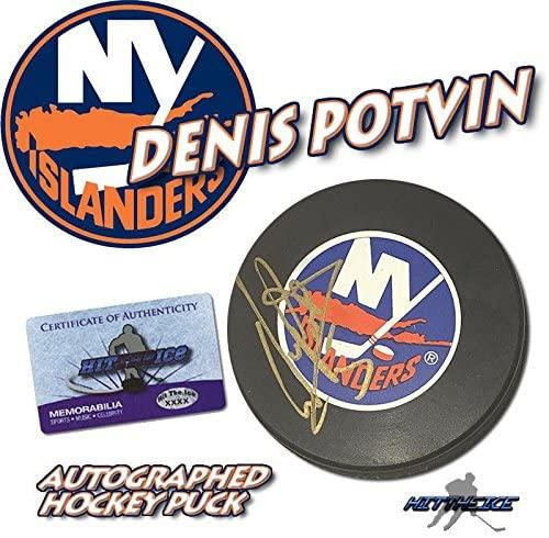 Denis Potvin Signed Puck New York Islanders